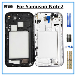 metal middle frame housing chassis NZ - 5.5 Inch for Samsung for Galaxy Note2 N7102 Middle Frame Mid Bezel Housing Metal Frame Housing Chassis