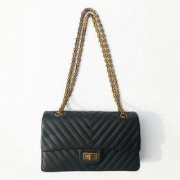 Diamond Types Quality NZ - Classic Type Luxury Brand Design Women Handbag High Quality V Laice Genuine Leather Single Shoulder Bag 25cm Trendy Chain Flap