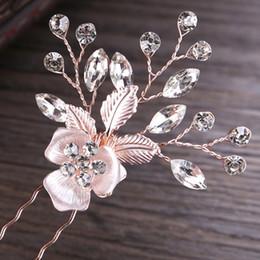 Art Sticks Australia - Hair stick flower hair combs women head accessories pin crystal hairpin body art photography wedding headdress jewelry