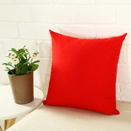 $enCountryForm.capitalKeyWord Australia - 45 * 45CM Home Sofa Throw Pillowcase Pure Color Polyester White Pillow Cover Cushion Cover Decor Pillow Case Blank christmas Decor Gift