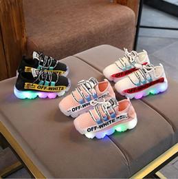 $enCountryForm.capitalKeyWord NZ - NEW Fashion Childrens Luminous Shoes Stars Print Girls Flat Shoes Luminous Non-slip Wear-resistant Childrens Shoes Best quality hf06