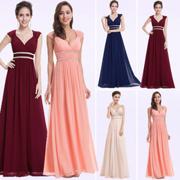 Empire Style Wedding Gowns Australia - Plus Size Bridesmaid Dresses Elegant Cheap Chiffon Party Gowns Beading Empire Hollow Out Formal Party Dresses For Wedding J190430