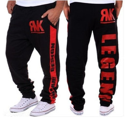 Stars Trousers NZ - Wholesale-2016 Mens Baggy Cargo Pants Letters Star Sweatpants Men's Outdoor Sports Trousers Track Pants Loose Tracksuit Joggers
