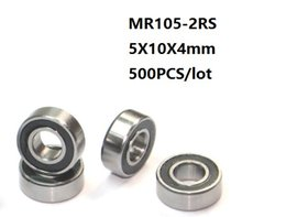 4mm ball bearings online shopping - 500pcs MR105RS MR105 RS MR105 RS RS x10x4 mm Rubber sealed deep groove Ball Bearing Miniature mini mm