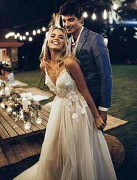 $enCountryForm.capitalKeyWord NZ - Sexy Backless Bridal Gowns Sweetheart Neckline Vestidos De Novia Sweep Tail Tulle Plus Size Wedding Dresses
