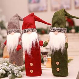 $enCountryForm.capitalKeyWord Australia - Christmas Wine Bottle Cover Faceless Plush Doll Wine Bags Elf Beard Elves Dolls Dinner Party Decoration Household KTV Bar xmas Ornament