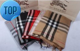 VelVet silk scarfs online shopping - zhu Check Women Wool Cotton Cashmere Silk Scarves Scarf Wrap Shawl Pashmina X70