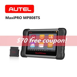 Mitsubishi Obdii Tools NZ - AUTEL MaxiPRO MP808TS OBD2 Scanner Automotive Vehicle Bluetooth OBDII Car Diagnostic Tool SRS TPMS Programming Code Reader