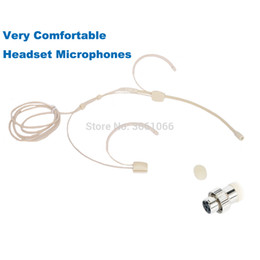 Mini xlr connector online shopping - Pro Headset Head mounted Headworn Omidirectional Microphone For Mipro Connector Mini XLR PIN Lock MP