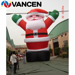 Santa Inflatable Australia - Giant oxford cloth inflatable christmas old man for advertisement mascot santa claus inflatable christmas decoration for square