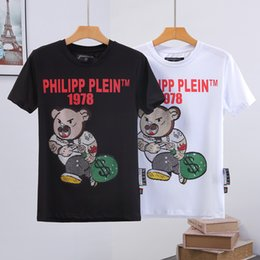 T producTs online shopping - PP Men Summer new product Designer Luxury Shirts Fashion Short Sleeve t shirt Clothing Casual Skull Letter print Hip Hop style Man TEE