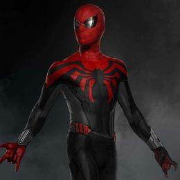 $enCountryForm.capitalKeyWord Australia - Movie hero character role play Marvel universe red spiderman elastic body tights detachable multi-size cosplay costume