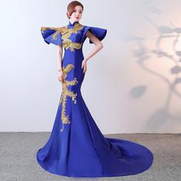 $enCountryForm.capitalKeyWord UK - New 2019 Party Cheongsam Oriental Women Maxi Dress Fashion Chinese Style Elegant Long Qipao Luxury Trailing Robe Vestido S-XXL