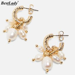 Statement Vintage Pearls Australia - Best lady 2019 New Vintage Simulated Pearls Drop Earrings for Women Wedding Trendy Girls Gift Stone Statement Earring Jewelry