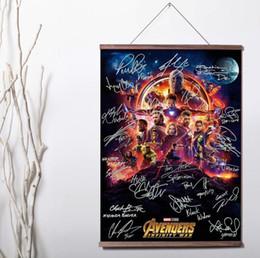 $enCountryForm.capitalKeyWord Australia - Avengers Infinity War signature Movie Art Wall Canvas poster with wood scroll