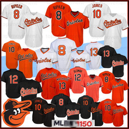 griffey jr jersey 2019 - 8 Cal Ripken Jr. Jerseys Baltimore Stitched Oriol 10 Adam Jones 13 Manny Machado 12 Roberto Alomar 150th Baseball Jersey
