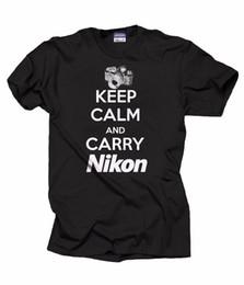 $enCountryForm.capitalKeyWord UK - Gift For Photographer T-Shirt Keep Calm And Carry Nikon Tee Shirt Photoshoot Tee Classic Quality High t-shirt