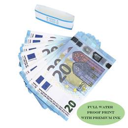 Toptan satış Prop para Oyun özgü Kopya 10 20 50 100 200 Euro dolar sahte para Film parayı sahte kütük Euro 20 oyun Toplama ve Hediyeler stokların