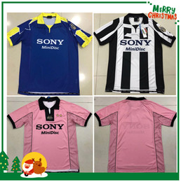 f619944baac Vintage Soccer Jerseys Canada - 97 98 Juventus White Retro soccer jersey  1998 champion league Juventus