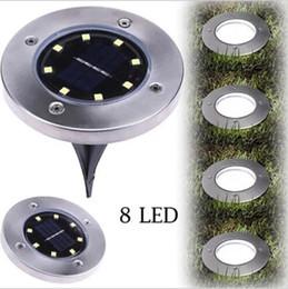 $enCountryForm.capitalKeyWord Australia - Solar Powered Buried Light 8 LED Ground Underground Light Lamp for Outdoor Path Garden Lawn Courtyard Landscape House Decoration Lamp LT687