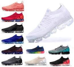 reputable site 16e8c 698d2 2019 moc 2.0 Flagship Chaussures hommes femmes nouveau blanc Noir Gris bleu  rose à tricoter formateurs baskets designer de mode Chaussures tout-aller