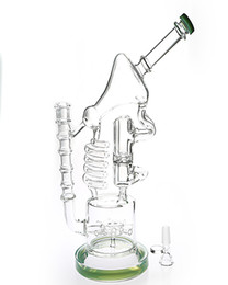 "$enCountryForm.capitalKeyWord NZ - Upline 13"" Tall Glass Bongs Hand Made Water Pipes Oil Rig Pipes with 14.5mm joint Smocking Hookahs GB-558"