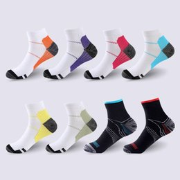 sports sock huf NZ - Sports Compression Socks For Women Men Athletic Breathable Ankle Anti-Fatigue Plantar Fasciitis Heel Spurs Pain Short Socks Running Socks