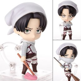 Action & Toy Figures 6 Attack On Titan Anime Levi Ackerman Sofa Sitting Boxed 16cm Pvc Action Figure Model Collection Doll Toys Gift