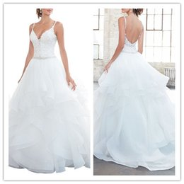 $enCountryForm.capitalKeyWord Australia - Wedding dresses hot selling sleeveless sexy deep V neck backless beautiful bridal dress decoration skirt bohemian wedding dress bridal gowns