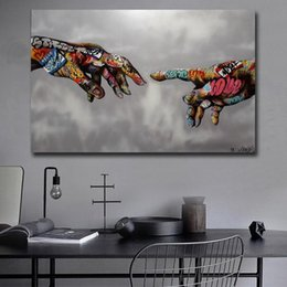 impression urbaine achat en gros de-news_sitemap_homeGraffiti Pop Art d affiche Peinture Street Art Urban Art sur toile mur main photos pour Living Room Home Decor