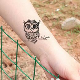 $enCountryForm.capitalKeyWord Canada - 1pc Cute Owl Arm Fake Transfer Tattoo Sexy Large Temporary Tattoos Sticker Men Women Body Art 105*60mm D19011203
