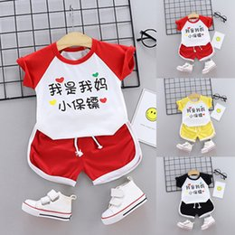 $enCountryForm.capitalKeyWord Australia - 2019 High quality Toddler Kids Baby Boy Clothes Print T shirt Tops Shorts Outfits 2Pcs Set Summer Clothes Dropping Roupa Menino