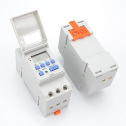 din rail switches UK - Good Electronic Weekly 7 Days Programmable Digital TIME SWITCH Relay Timer Control AC 220V   110V DC 12V 16A Din Rail Mount