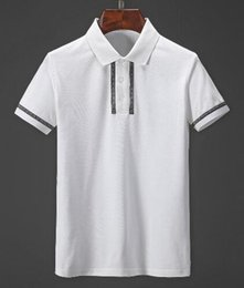 discount polos Australia - Discount Solid Polo Shirts for Men Italy Fashion Summer Man's Casual Polos Short Sleeve Business Shirt White Black Size M-XXXL