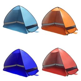 portable car park UK - Quickly Automatic Opening Tents Instant Portable Beach Tent Park pop up Shelter Hiking Camping Family Tents With Packaging Bag For 2-3 Perso