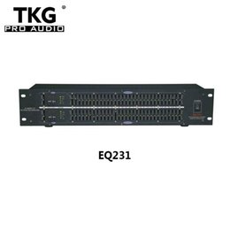 TKG dj-ausrüstung sound system audio ausrüstung professionelle dual 31 band audio lautsprecher sound equalizer EQ231 graphic Equalizer
