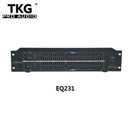 Vente en gros TKG dj équipement équipement audio équipement audio professionnel double 31 audio bande haut-parleur égaliseur sonore EQ231 graphique égaliseur