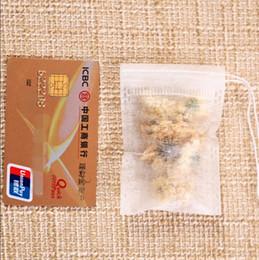 Empty tEa bags hEat sEal online shopping - 1000pcs cm Empty Tea Infuser Bags Heat Seal Filter Paper Herb Loose Tea Bags Teabag Single Drawstring Non Woven Tea Bag LX7126