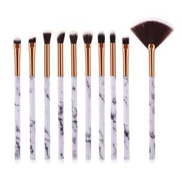 $enCountryForm.capitalKeyWord Australia - Professional Marble Make Up Brushes Eye Shadow Liner Full Makeup Brush Kit Soft Hair Eyes Pencil