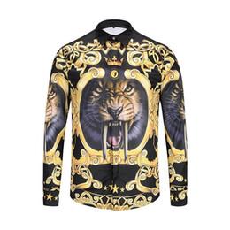 498b7a1b8c4 New Pattern Male Style Long Sleeves brand mens Shirt Korean Edition Slim  Teenagers Leisure Time Men s Wear Man Tide
