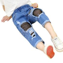 $enCountryForm.capitalKeyWord Australia - Girls Jeans kids designer clothes girls trousers Summer lace hole Jeans pants little girls clothing kids clothing kids clothes A6335