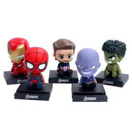 $enCountryForm.capitalKeyWord Australia - The Avengers Cartoon spiderman Action Figures car decoration kids toys Superhero Action Figure Toys top quality