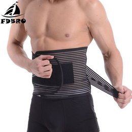 protector waist Canada - FDBRO For Pain Relief Posture Corrector Health Care Gym Fitness Waist Protector Waist Support Lumbar Belt Back Brace Bandage