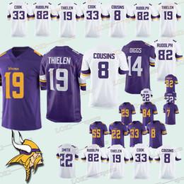 322b7837d MINNESOTA 33 VIKINGS jerseys 14 Stefon Diggs 8 Kirk Cousins 19 Adam Thielen  33 Dalvin Cook 22 Harrison Smith jersey