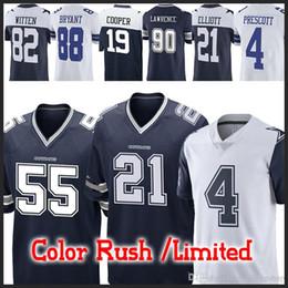 55 Leighton Vander Esch Cowboys Dallas jerseys 21 Ezekiel Elliott 4 Dak  Prescott 19 Amari Cooper 90 DeMarcus Lawrence 82 Jason Witte jersey 35a36e463