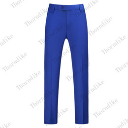 plus size navy blue suit Canada - 2020 Men Dress Pant Navy Blue Business Casual Slim fit Ankle Length Pantalon Classic Suit Trousers Wedding Plus Size 26-40