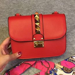 Genuine Brand Bags Australia - Designer Handbags Rivet Chain Crossbody Bags Genuine Leather Women Shoulder Bags Famous Brand Bag High Quality