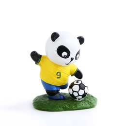 Football dolls online shopping - E FOUR Football Panda Dolls Resin with Hand paint Artist Cute Decoration Cars Interior Accessories National Team Mascot Ornament