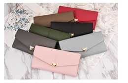 baochao bags 2019 - New lady fox decoration long female purse Korean version of the female small fresh lovely wallet multi-card mobile phone