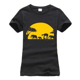 Camiseta de mujer 2019 Verano Manga Corta O - Cuello Elefantes Caminante  Imperial A Través del Safari Africano Camiseta Femme Camisetas Camisetas  Mujer Ropa 8a02b1d53cc